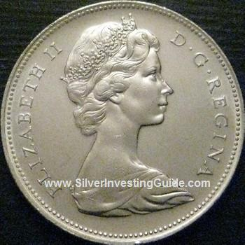 Silver Canadian Dollar Obverse View