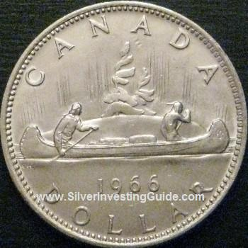 Silver Canadian Dollar Reverse View