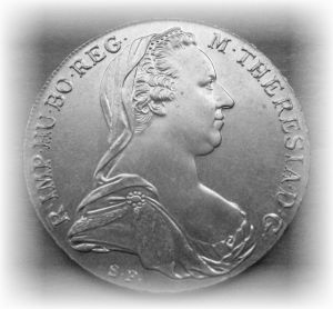 Obverse of Maria Theresa Taler Silver Bullion Coin