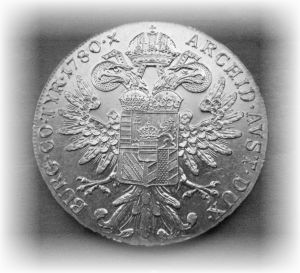 Reverse of Maria Theresa Taler Silver Bullion Coin