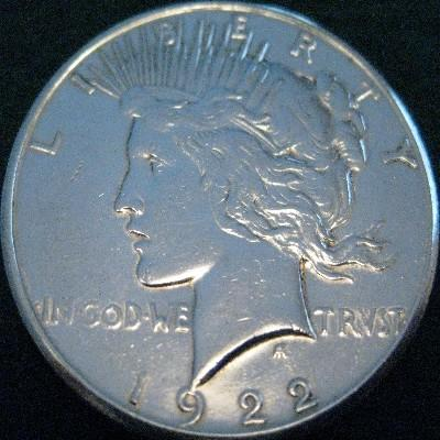 Silver Peace Dollar Obverse View